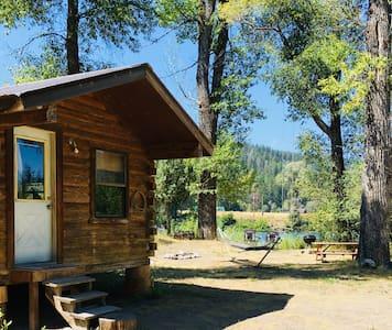 Log Cabin on Snake River