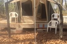 New Kodak canvas tent front with awning
