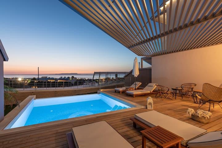 Blossom SeaView Villa w pool | Onira Suite Dreams