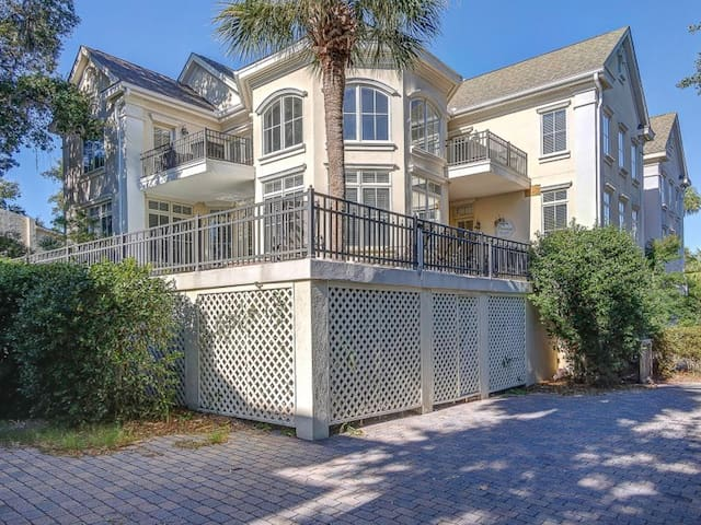 Welcome to 20 Knotts Way in N Forest Beach on a private lane. 3 story home with an elevator from the garage to all 3 levels of the home. Parking in the garage and 2 additional spaces outside, plenty of parking.