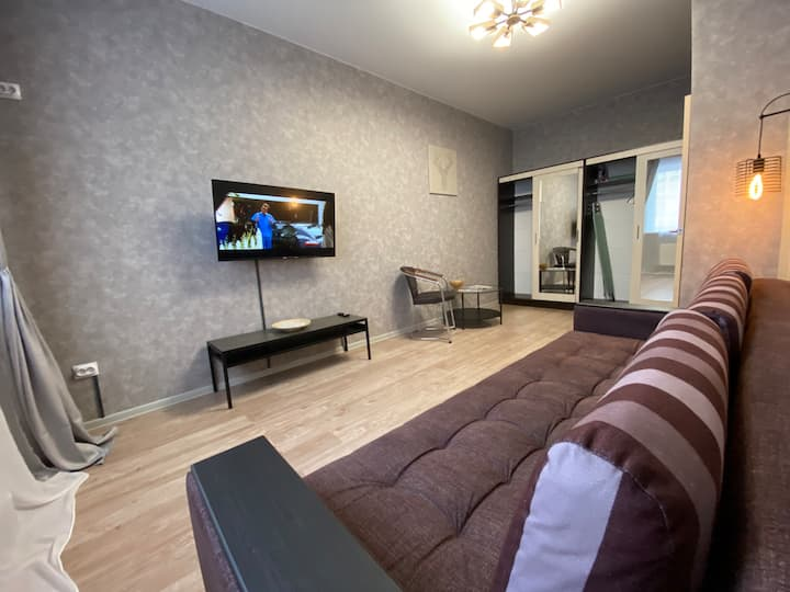 1-room apartment in ten minutes of Krasnodar Park