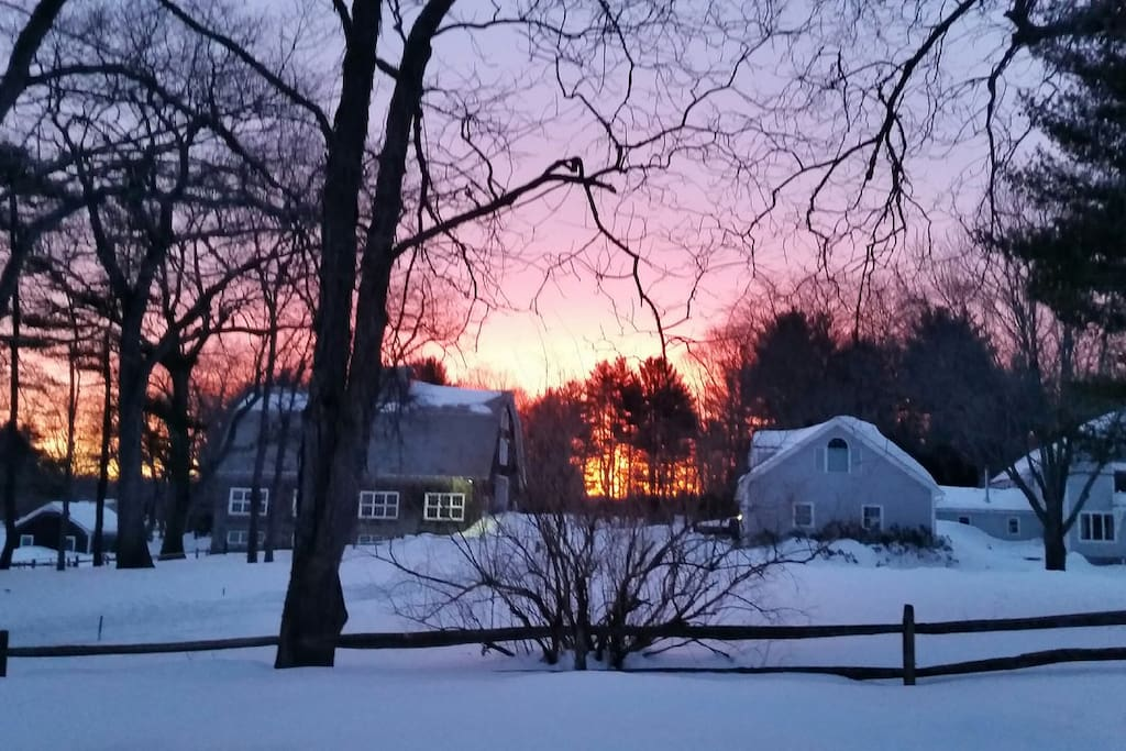 The Farm at sunset in winter