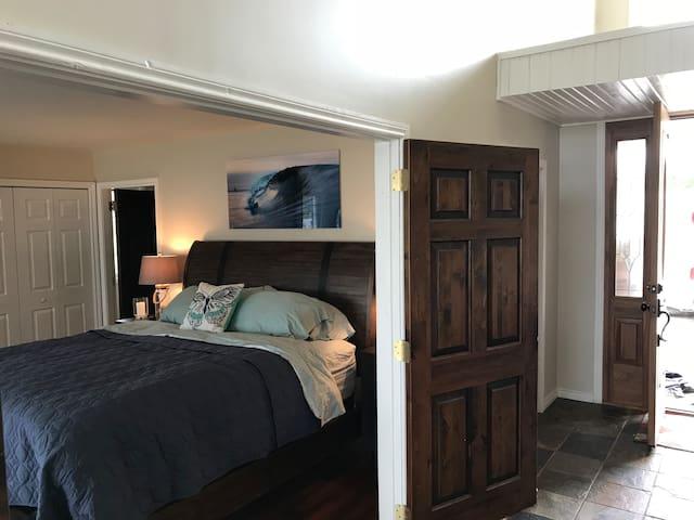 Master bedroom from main entrance hall near living area