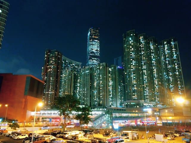 View from the window. ICC, the current tallest building in HK.