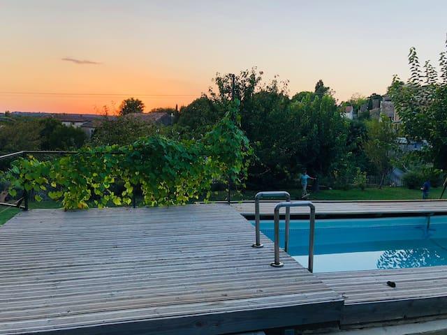 Maison familiale individuelle dans le Gard