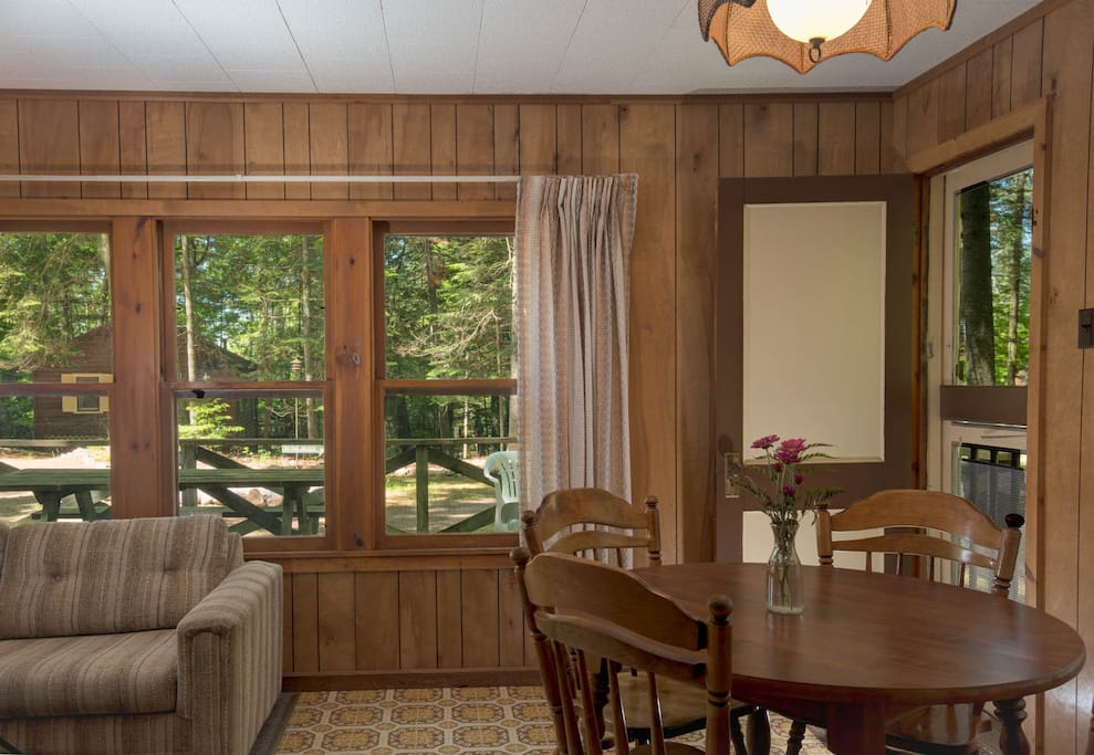 Dining room and door to the porch