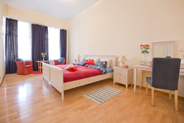 Spacious 3 rooms apt on Nevsky pr.