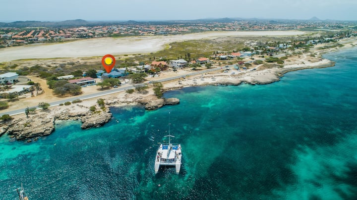 Ocean front luxury villa on Malmok Aruba