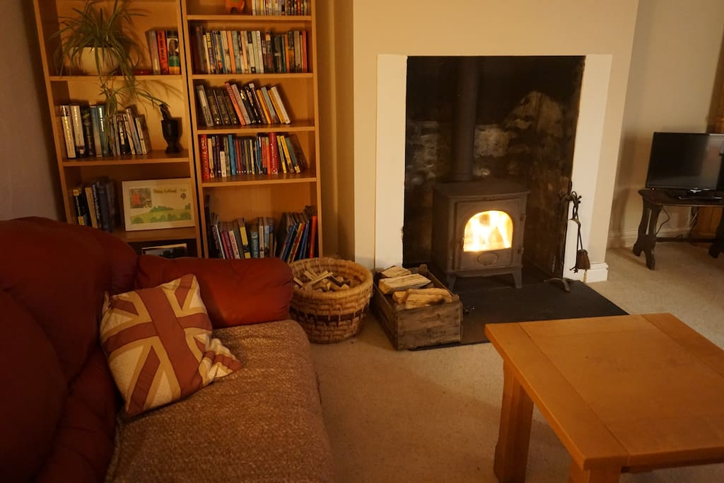 The snug lives up to its name especially in the winter with the lovely wood burner.