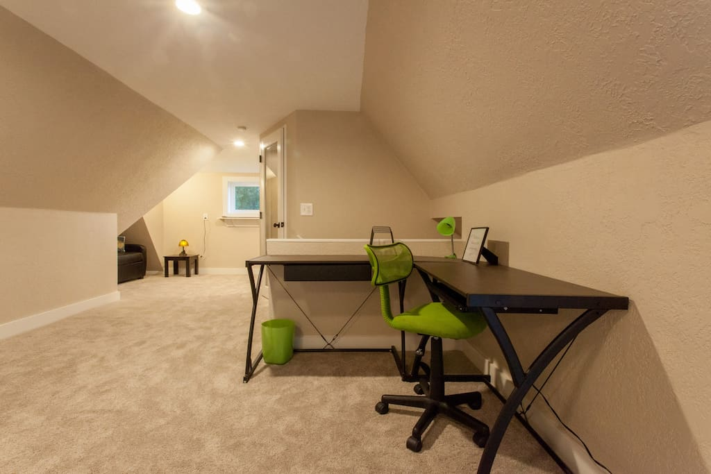 Take time to check in with the office, or keep a diary during your visit, while kids hang out in their very own nook!