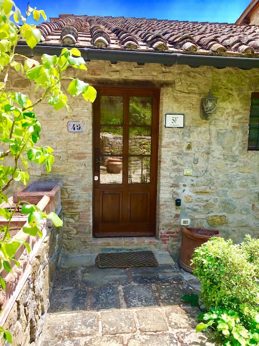 Front door to the house