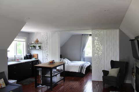 通風輕鬆的單間公寓Loft