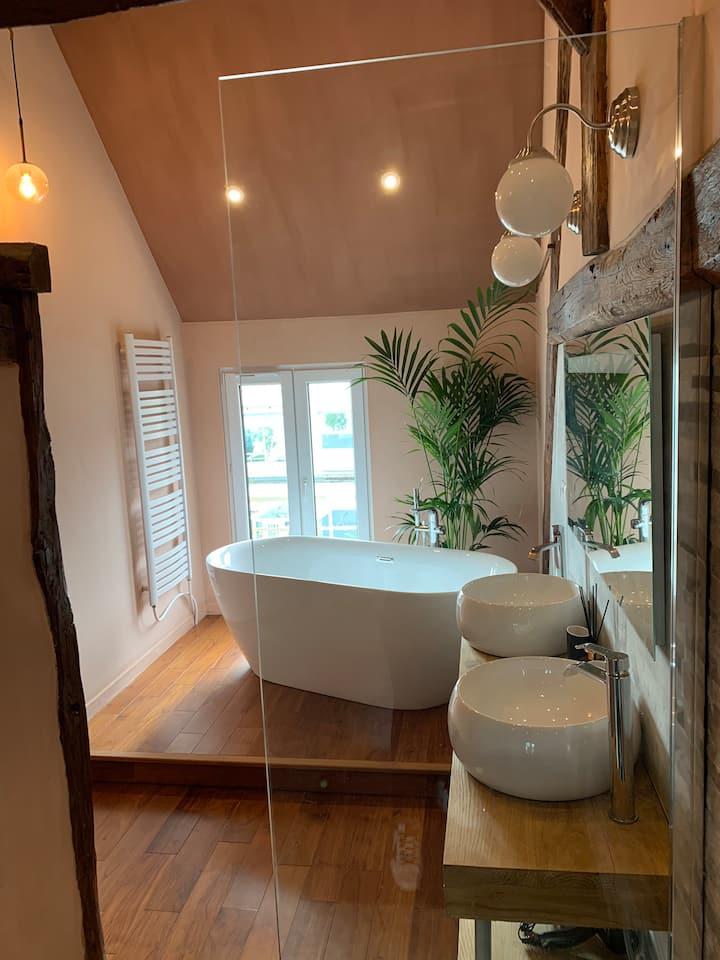 Chambre vue sur Seine Suite avec coin salon
