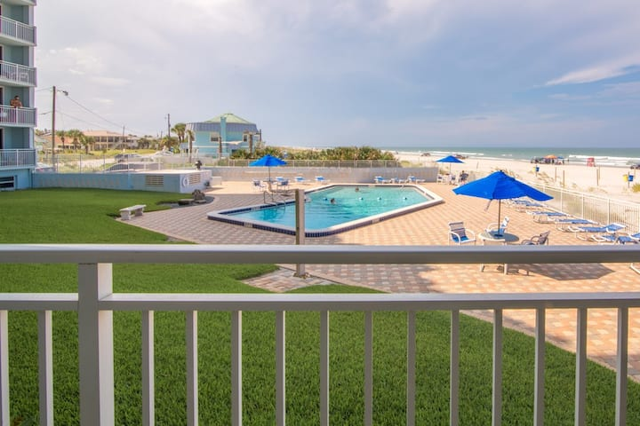 Oceanfront Condo just steps from the Beach!