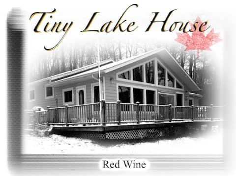 Tiny lake house cozy winter retreat