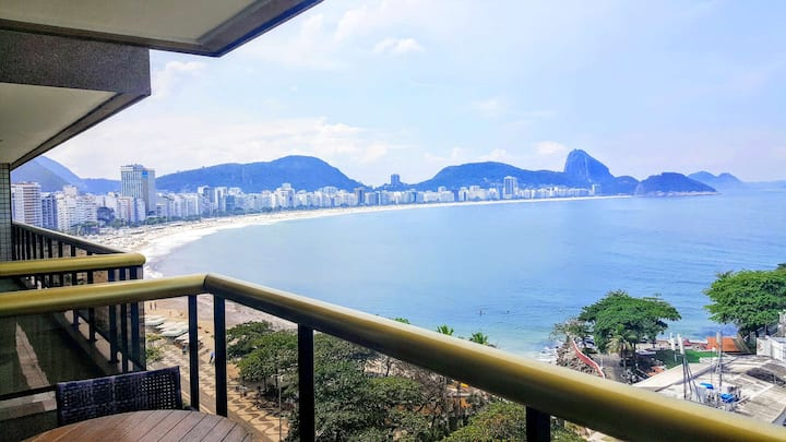 LUX RIO 11 - Beachfront Duplex with Pool and view