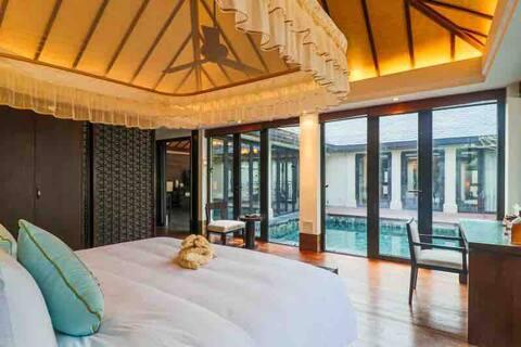 三亚香水湾分时度假别墅3卧一厅3卫带厨房独立泳池