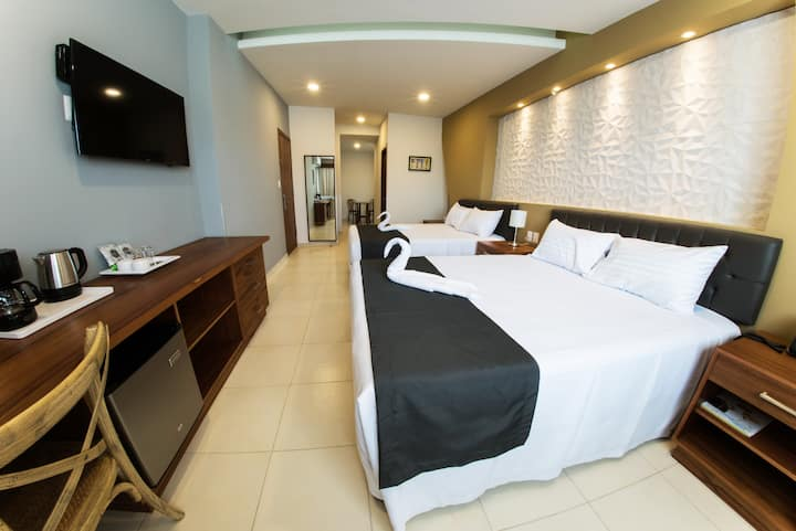 Junior suite hasta para 4 personas a 5 mn de playa