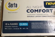 if you need there is comfortable queen air mattress