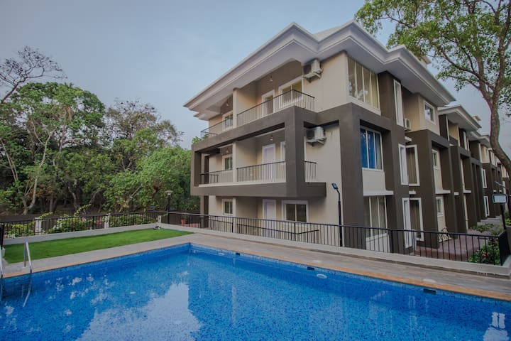 Exotic 2BHK Apartment with Pool Anjuna - Vagator