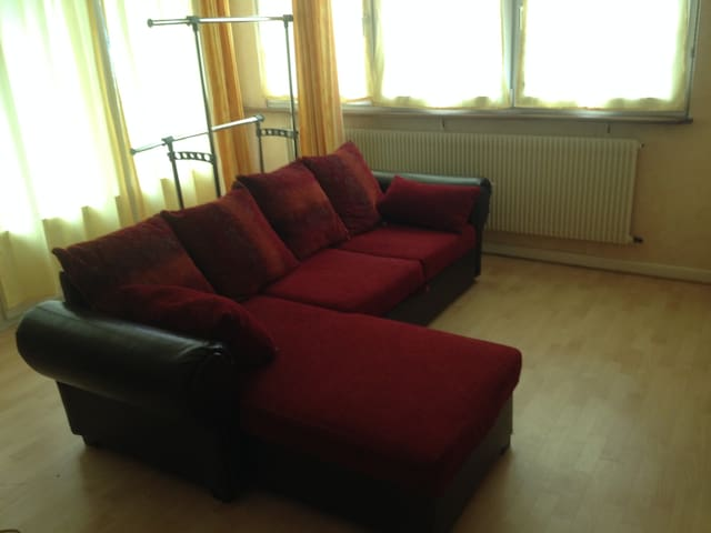 Living room with sofa bed - Mommenheim - Lägenhet