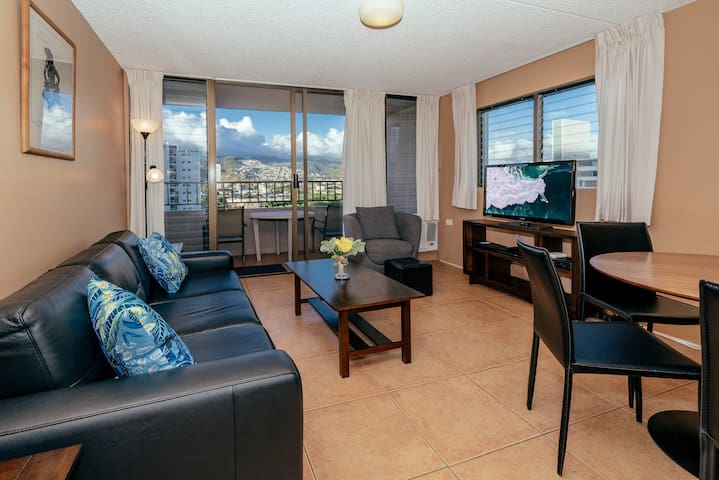 *Professionally Sanitized*Updated Royal Kuhio Condo~Full Kitchen+Free Parking - Royal Kuhio City 1 BDR on the 13th Floor