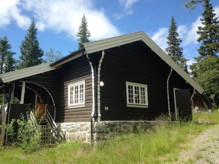 Tømmerhytte ved Valdres Alpinsenter