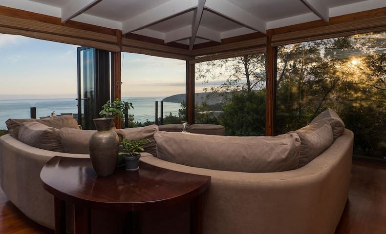Ocean view lounging area
