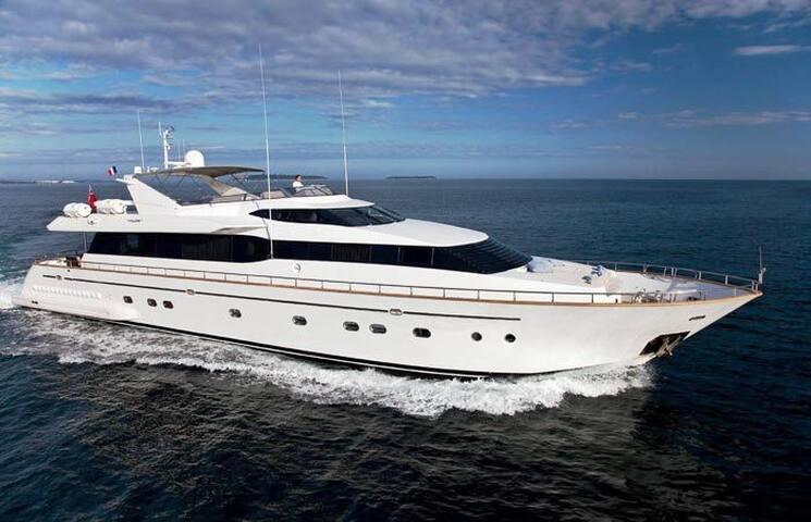 Megayacht docked in Puerto Banus