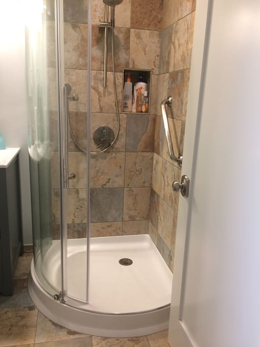 Shower in guest bathroom
