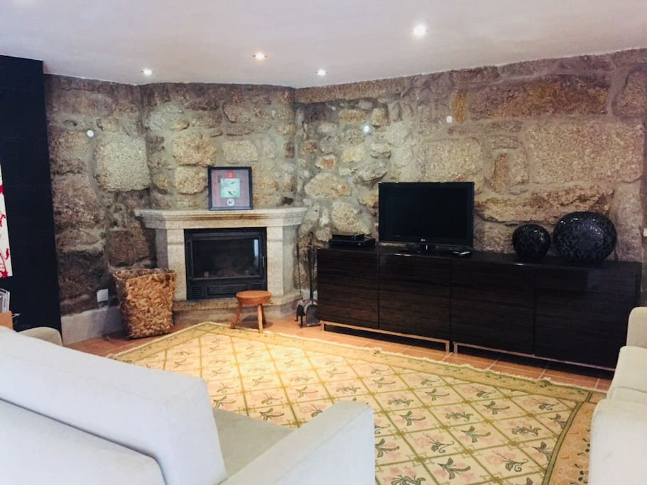 Living room - TV, fire place