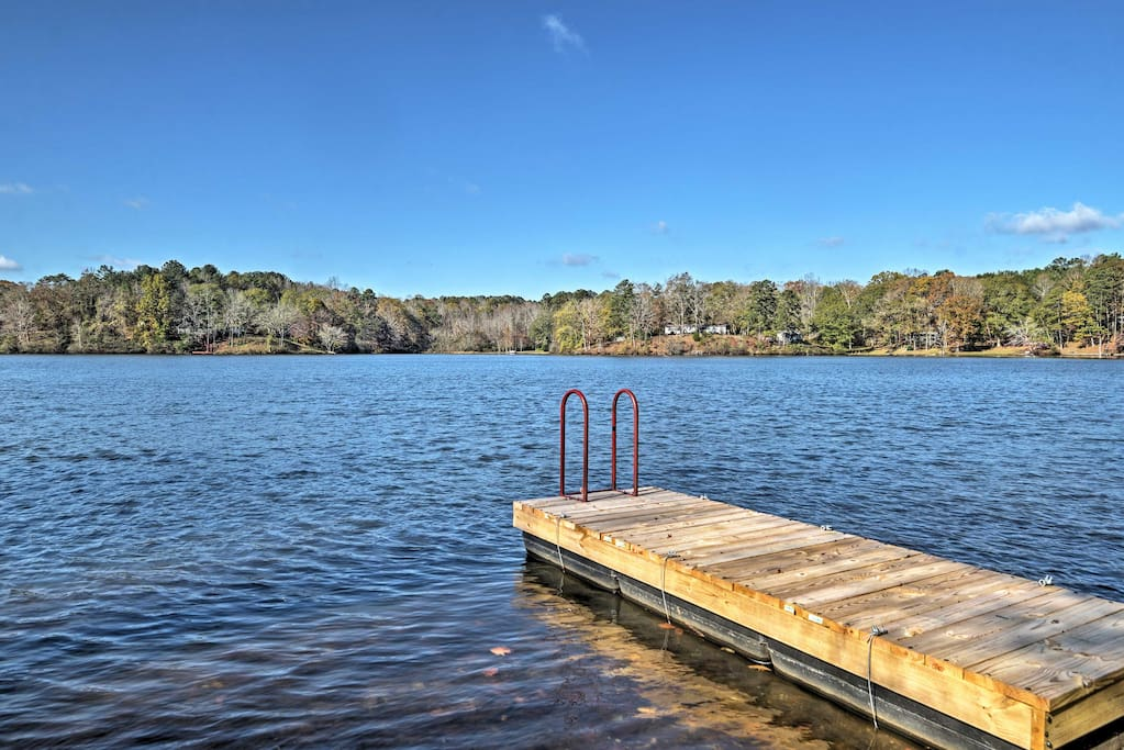 Take in the serene views of Lake Gerald from your private dock.