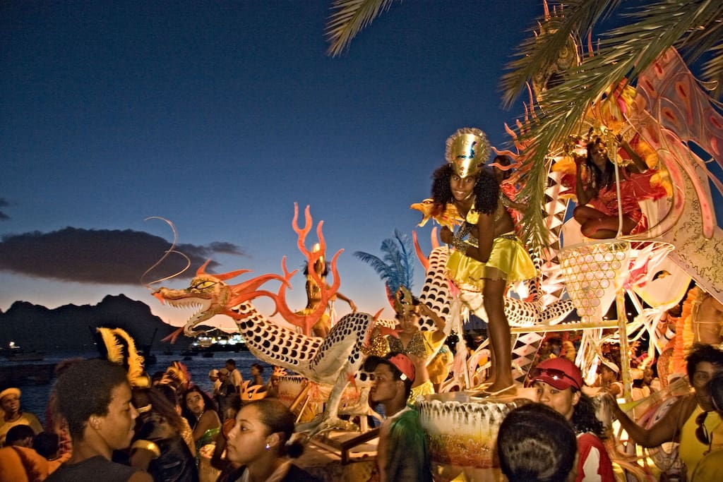 Carnival is very popular here in Cape Verde