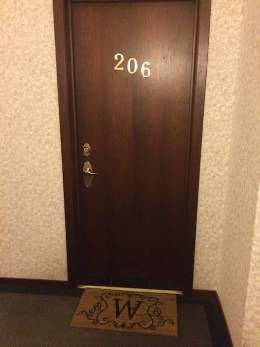 Front Door on 2nd Floor