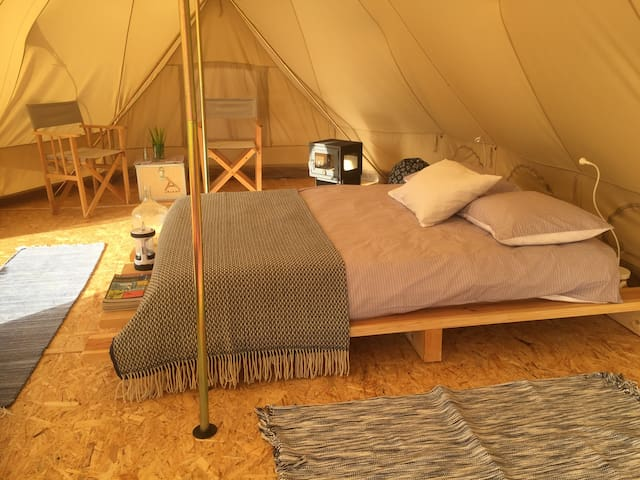 DominioValeFlores|Bell Tent Large|Bathcabin • Céu•