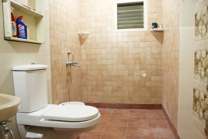 Large and spacious Bathroom / Toilet / Shower with all toiletries provided. Turkish bath towels and hand towels will be provided. Cleaning and maintenance of rooms will be done on a daily basis and upon request.