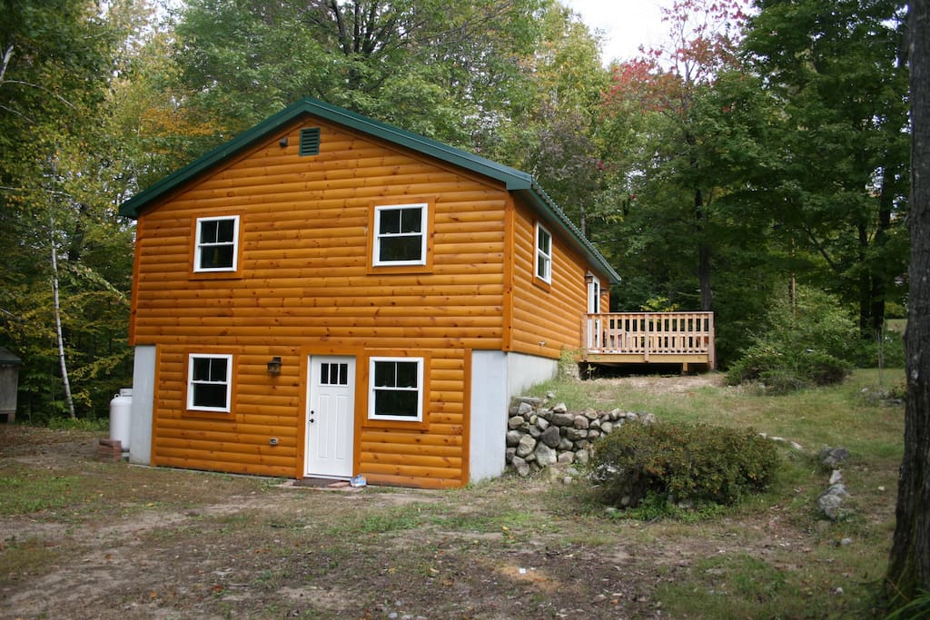 Log cabin in madison eidelweiss houses for rent in for New hampshire log cabins