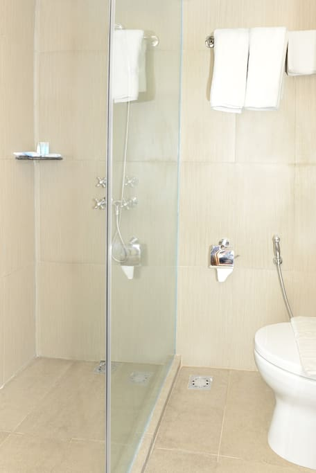 Bond shower room with toilet