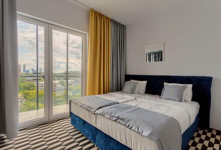Vola Inn Apartament  Comfort z widokiem na centrum