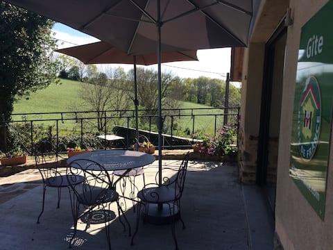 Gîte grand confort - Spa entre Cantal et Aveyron