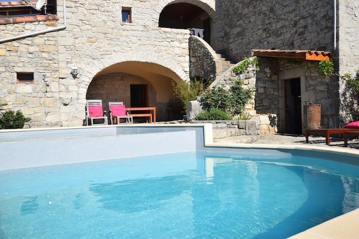 Holiday home near a farmhouse, with large garden and wonderful swimming pool