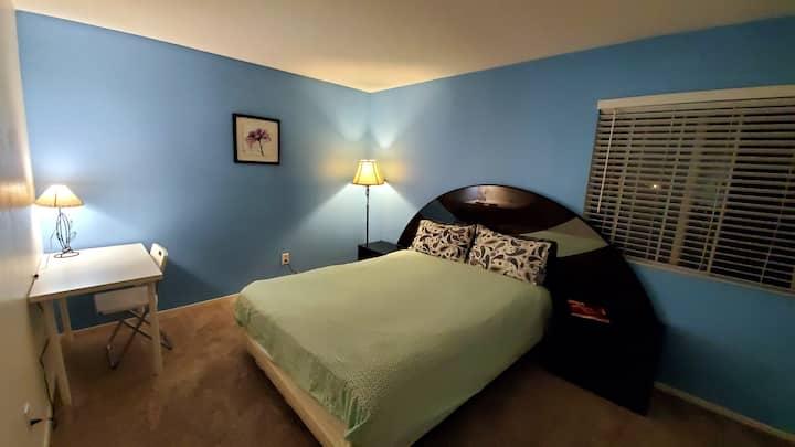 2. Elegant blue cabin