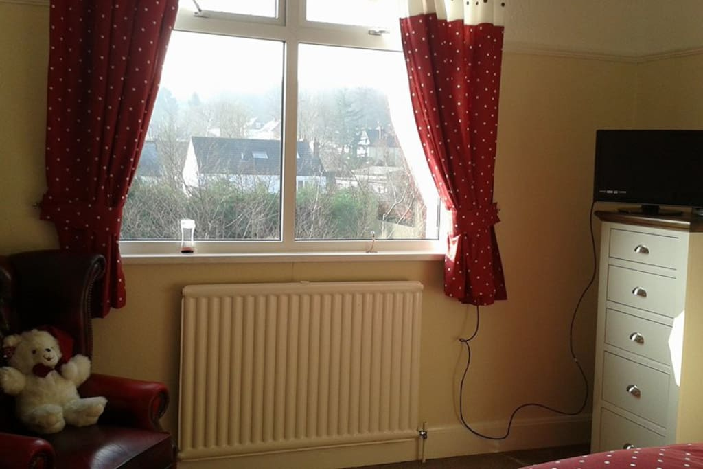 Rear facing bedroom with freeview TV