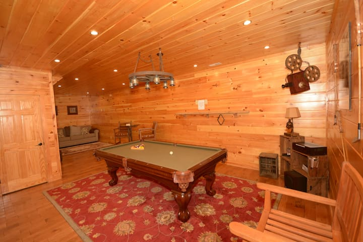 Pool table basement