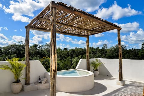Private House+Rooftop Pool at Mayan Selva in Tulum
