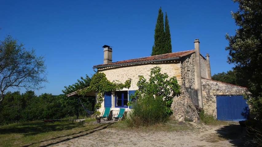 Lovely French stonehouse, very private with view - Le Poët-Laval - Rumah