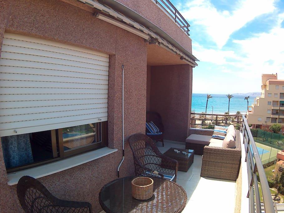 Terrace (main bedrooom window facing)