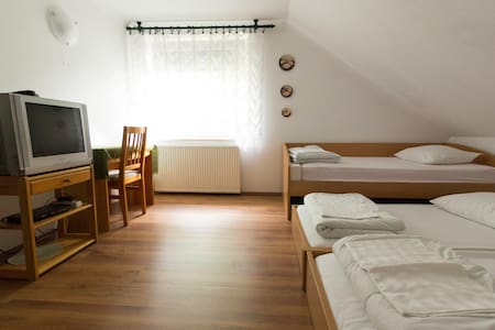 Studio 4 single beds Guesthouse Pod Orehi - Kraberk
