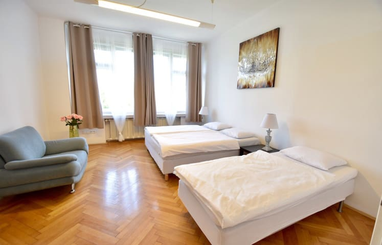 Downtown ROOM for 3 people near Wenceslas square