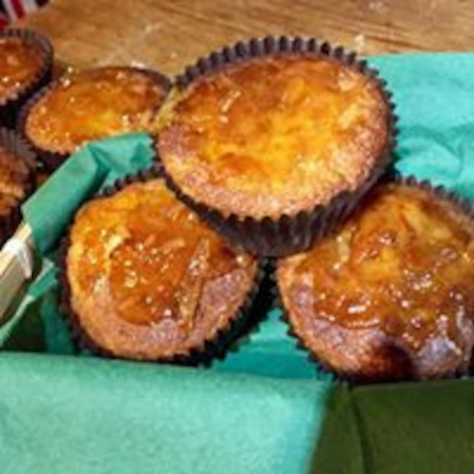 Home made Marmalage muffins made with Granny Smiths homemade marmalade. delicious